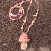 Pastel Pink Mushroom Kandi Necklace