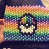 Mini Rainbow Pokeball Bag