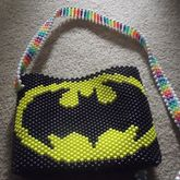 Batman Shoulder Bag W/ Rainbow + Glow In The Dark Strap