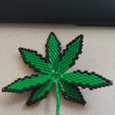 3D Perler Bead Pot Leaf