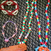 Necklaces, A Single And A Braid Cuff I Made Up :)