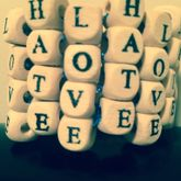 Love And Hate Block Letter Cuff