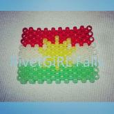 Kurdistan Flag Kandi Cuff