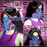 Custom Magenta,Burgundy.& Marble Turquoise Basscon Kandi Gas Mask