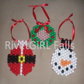 Winter Holiday Kandi Ornaments