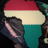 Africa In Rasta Colors (Peyote Stitch)