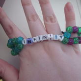 Infinity Green, Pink, Purple And Blue Glitter Double 1