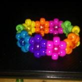 Rainbow Flower Kandi Cuff