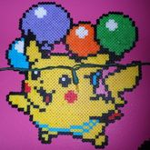 Pikachu Tied To Balloons
