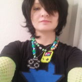 My Beq Perler Necklace And Troll Horn Goggles!!