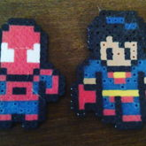 Spiderman And Superman Chibis