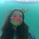Rainbow Drip Mask