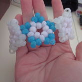 White Center Blue And Clear Glow In The Dark Stars Cuff