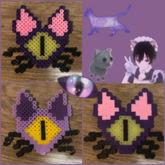 One-Eyed Cat Perler