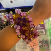 Purple And Gold 3d Cuff