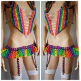 New kandi skirt with garters