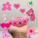Pink Hearts 3-D Cuff