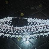 Amythest Accented Net Stitch Necklace