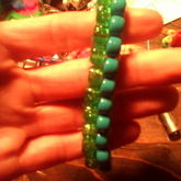 Green And Blue Peyote Stich