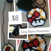 Mushroom Perler Necklace