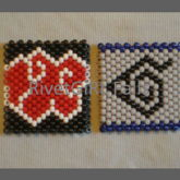 Naruto Inspired Kandi Cuffs Akatsuki & Hidden Leaf Village