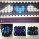 Purple Heart With Blue Wings Kandi Cuff