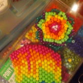 Rainbow Mask And 3d Rose