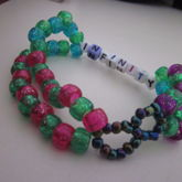 Infinity Green, Pink, Purple And Blue Glitter Double 3