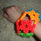 3D Rainbow Stars Cuff (side 1)