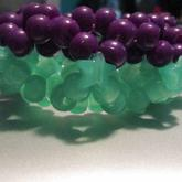 Half Green, Half Purple 3D Glow Cuff