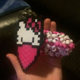 3d Hello Kitty Perler Cuff