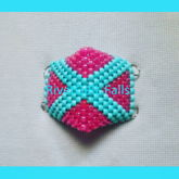 Teal X & Neon Pink Surgical Style Kandi Mask Made By RivetGiRL Falls