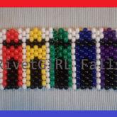 Rainbow Crayons Kandi Cuff Bracelet