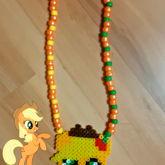 applejack perler necklace!!