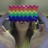 Neon Rainbow Peyote Panel