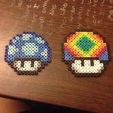 Set Of 8 Mario Mushroom Perlers 4