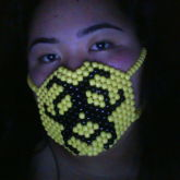 Yellow Biohazard Kandi Mask