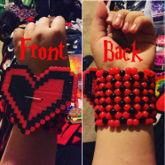 Harley Quinn Heart X Base Cuff