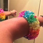 Rainbow 3D Cuff In Hand
