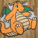 Finished Dragonite Perler