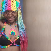 Kandi Harness/visor/necklace