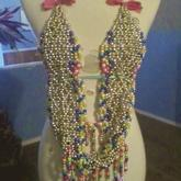Silver, Gold, And Rainbow Color Metallic Kandi Top
