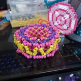 Lollipop Kandi Cuff Side View