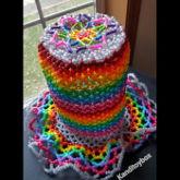 Rainbow Kandi Top Hat