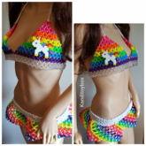 Rainbow Unicorn Kandi Outfit