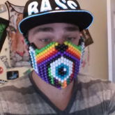 First Kandi Mask - Weeping Rave Eye