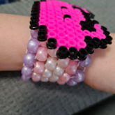 Pink Frog Cuff On Arm