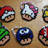 Pokeball, Hello Kitty, Minion, Android, Cookie Monster, Ghostbusters Mushroom Perlers Doubles