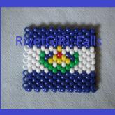 El Salvador Flag Kandi Cuff Bracelet By RivetGiRL Falls