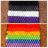 Perler Bead Gay And Asexual Pride Cuff